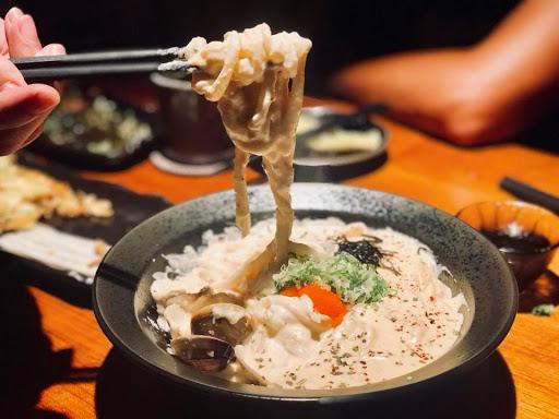 鴨肝牛小排,松阪豬,雞頸肉,明太子烏龍麵,清酒蛤蜊湯