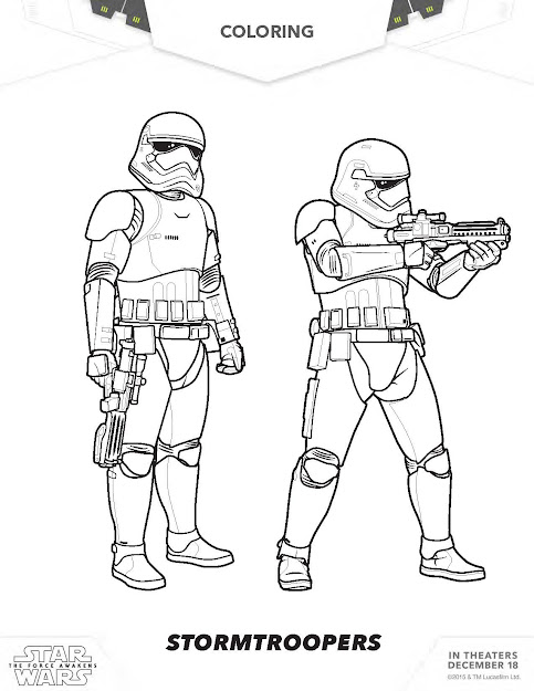 The Force Awakens Stormtroopers Coloring Pages