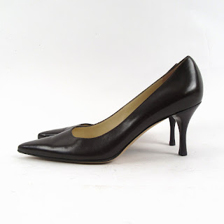 Gucci Brown Soft Leather Pointed Toe Pumps
