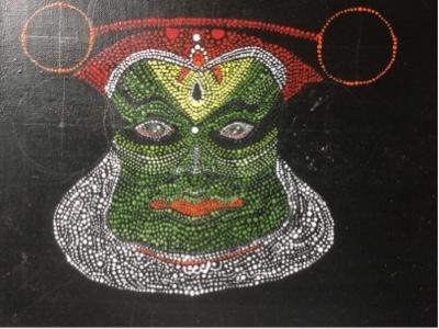 Kathakali - Mixed Media Art On Canvas