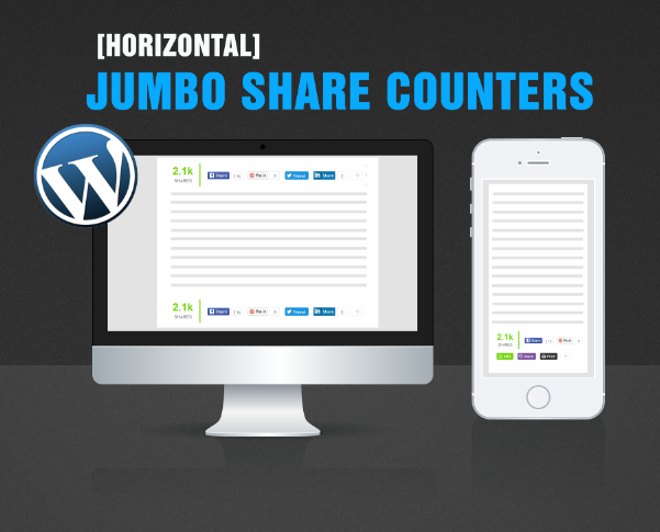 JumboShare Counters Plugin For WordPress