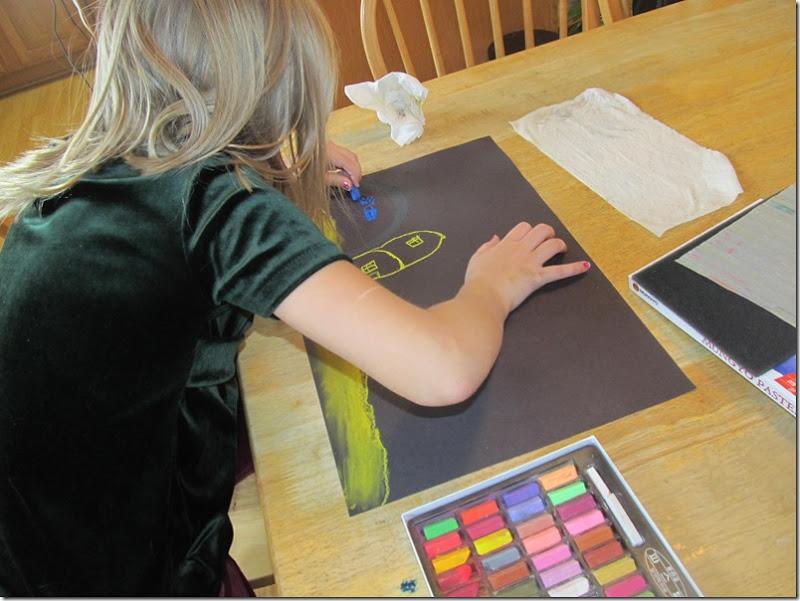 Emma and chalk pastels
