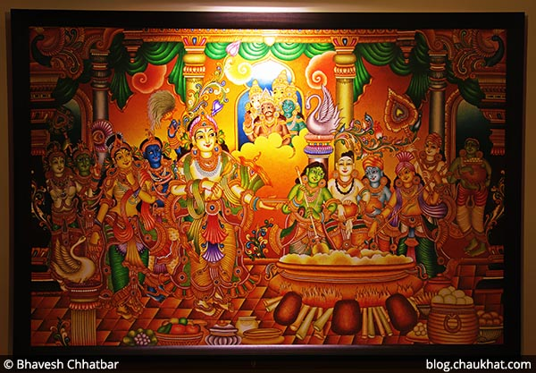 A beautiful painting at Savya Rasa [Koregaon Park, Pune]