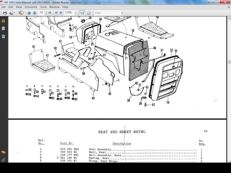 Massey Ferguson Repair Parts : Massey ferguson mf parts manual for garden