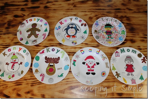 DIY-Personalized-Christmas-Dinner-Plates (15) & Christmas Family Tradition- DIY Personalized Christmas Dinner ...