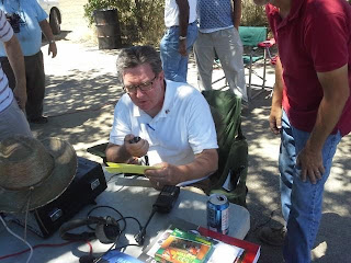The Honorable Ken Cooley, Calfornia Assembly, on the air at the River City ARCS Field Day
