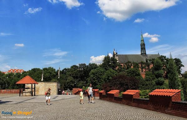 przed zamkiem w Sandomierzu nad Wisłą
