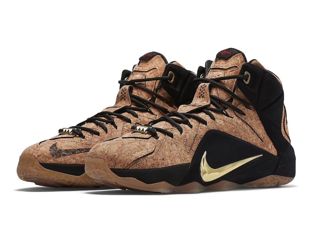 new product 47340 d2b3c Release Reminder Nike LeBron 12 EXT Kings Cork Close Ups ...