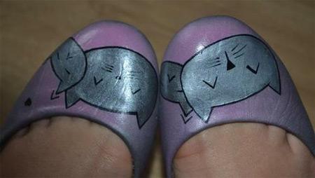 sapatilha customizada - gatinhos