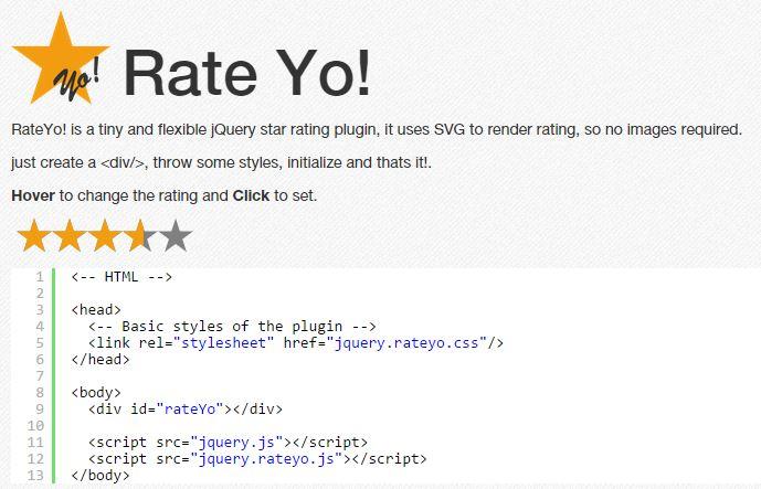 Rate Yo