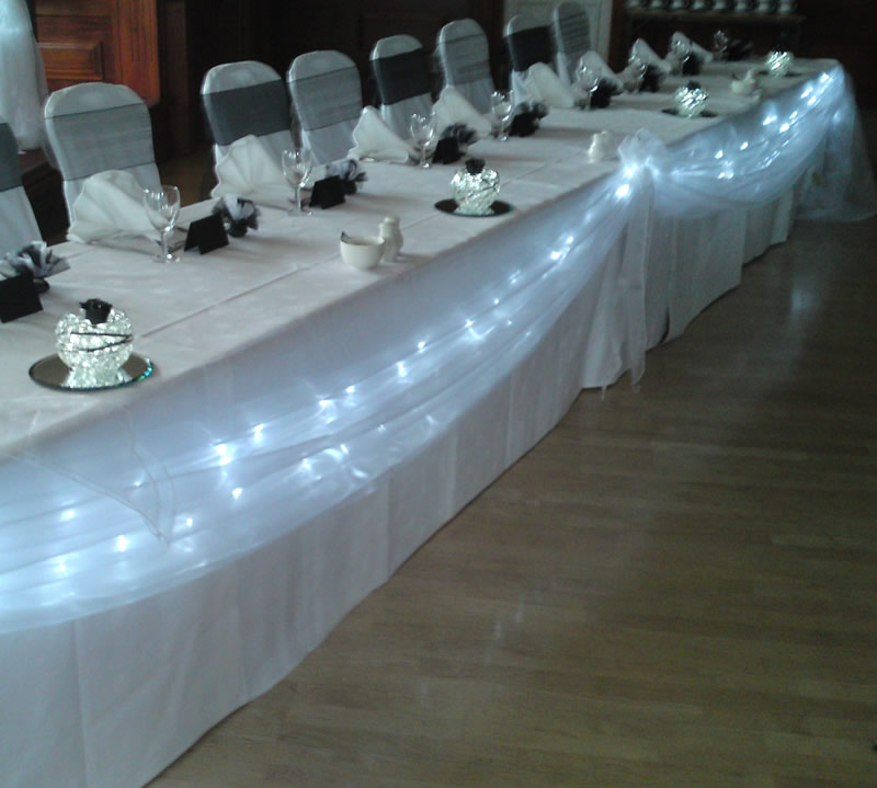 Wedding Head Table Decoration Ideas: Frugal Bride: Using Christmas Lights At Wedding Reception