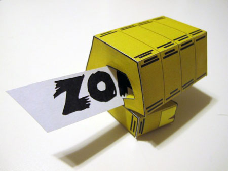 Zombie Knucle Bump Paper Toy