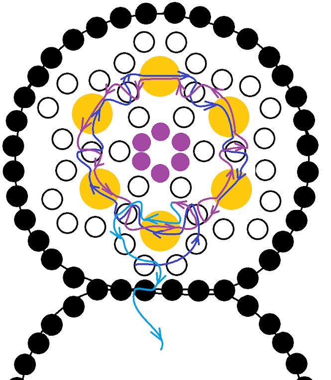 Белый браслет из бисера. Схема 2.
