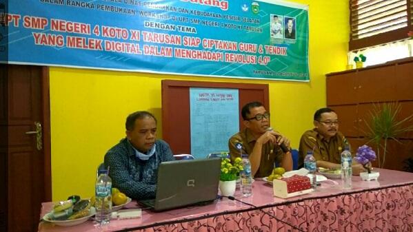 SMPN 4 Koto XI Tarusan, Gali Kreatifitas Guru Melalui Workshop Teknologi Digital