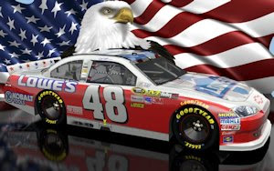 Jimmie Johnson NASCAR Unites Patriotic Wallpaper