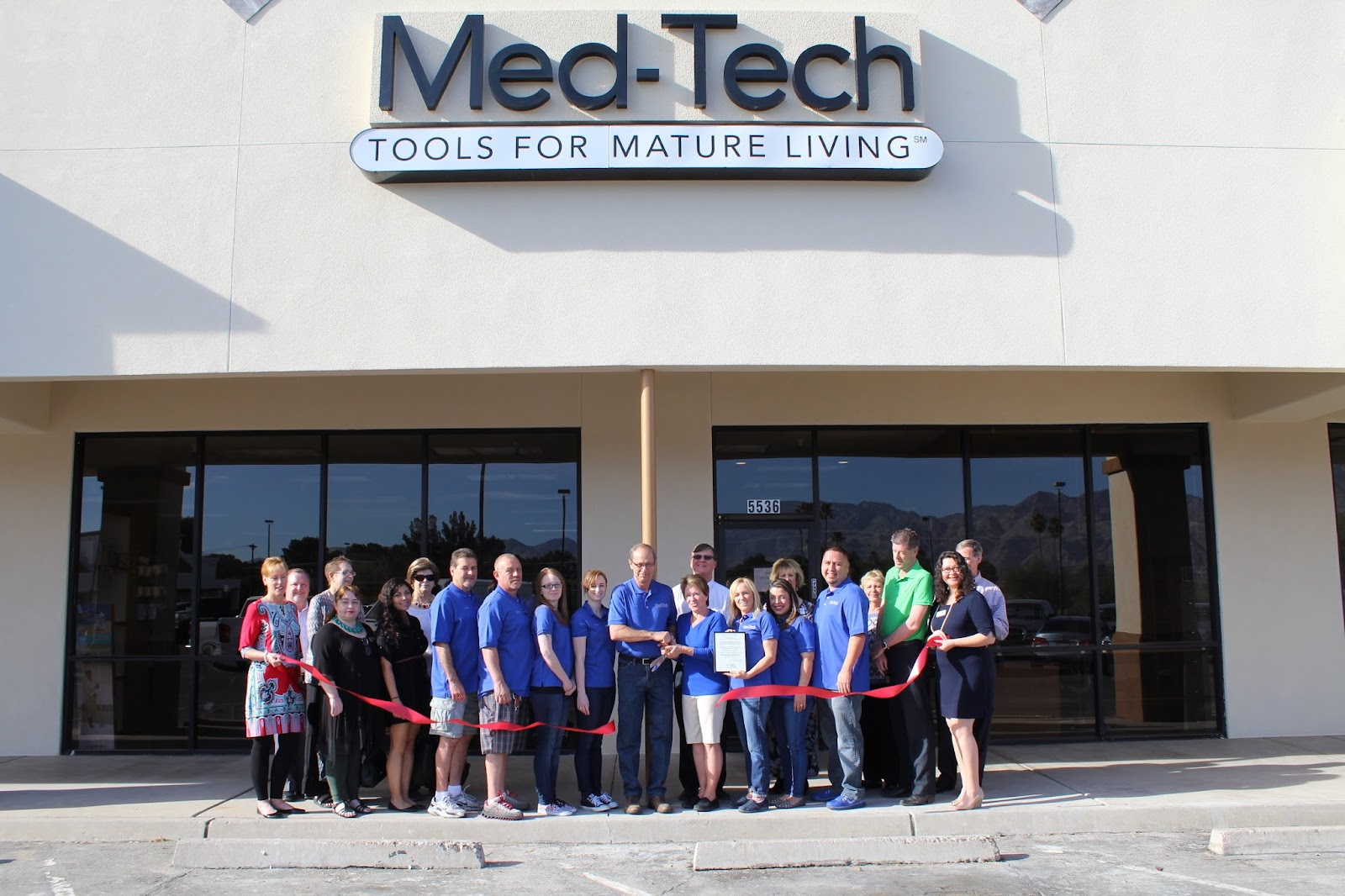 Congratulations to Med-Tech Tools for Mature Living, located at 5536 E. Grant Road, on the grand opening of their new location! Med-Tech has been serving Tucson's community for more than a decade. They carry the city's widest selection of home medical equipment and supplies, in a large showroom where you can browse to your heart's content. If you're in the neighborhood, please accept their invitation to come by and take a look for yourself. There's a very good chance you'll find a Tool for Mature Living that you can't live without. Local delivery and professional installation is free with any purchase over $50. Whatever it is, they'll set it up, show you how to use it, and haul away the packaging when their done.