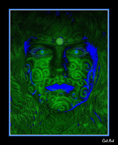 Green Face Girl, Green Witches