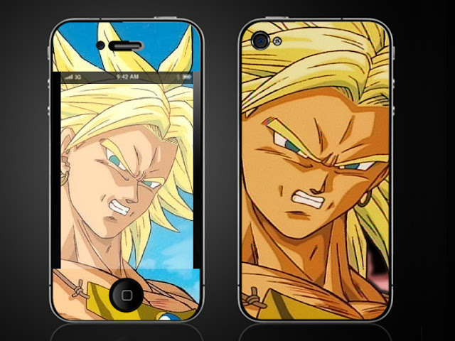 Dragonball Z Broly iPhone 4 G Vinyl Skin Decal Sticker
