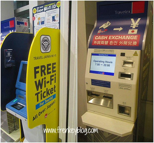 Free WIFI And Exchange Currency Machine - Haneda Airport