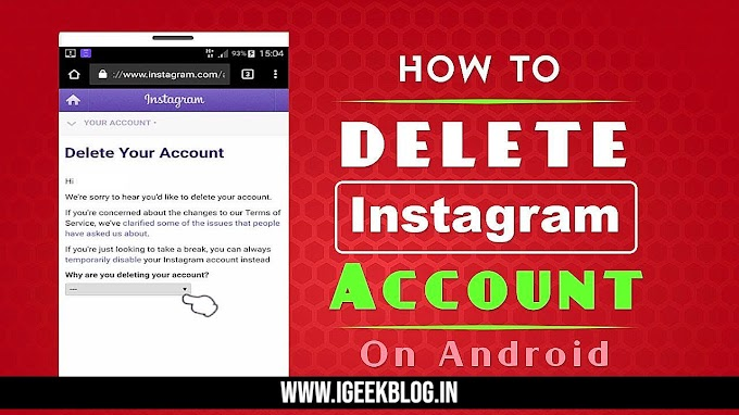 How To Delete Instagram Account In 2021