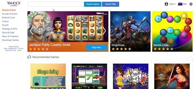 yahoo games online flash games portal