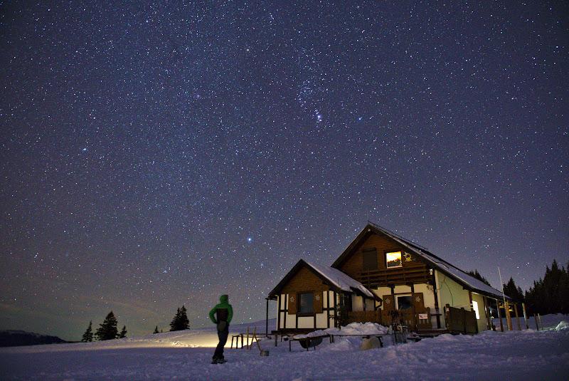 Fotograul, cabana si capatul neintersant al Caii Lactee.