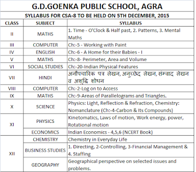 holiday homework of gd goenka public school agra