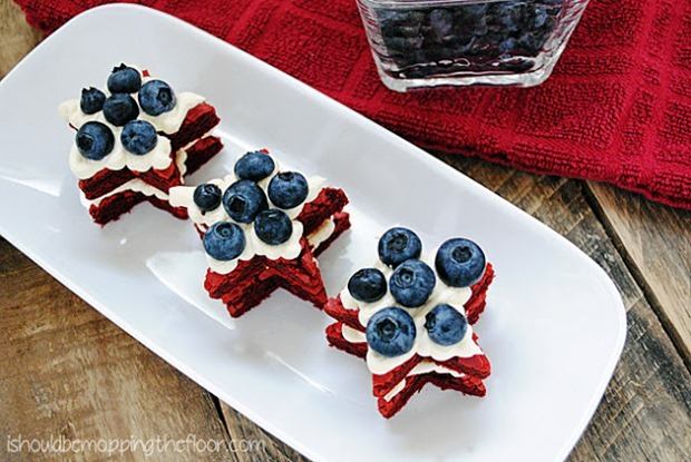red velvet brownie stars