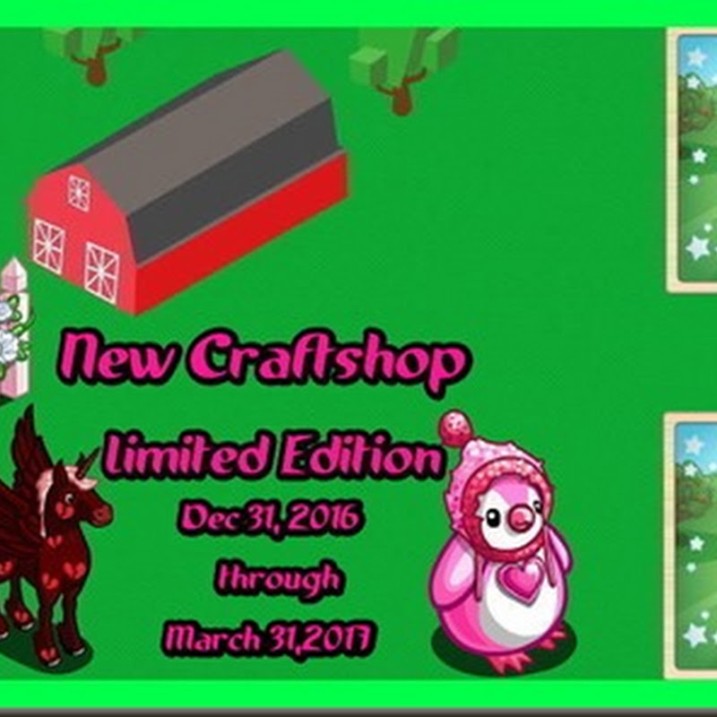 New Craft Shop Specials Dec 31, 2016 through March 31, 2017