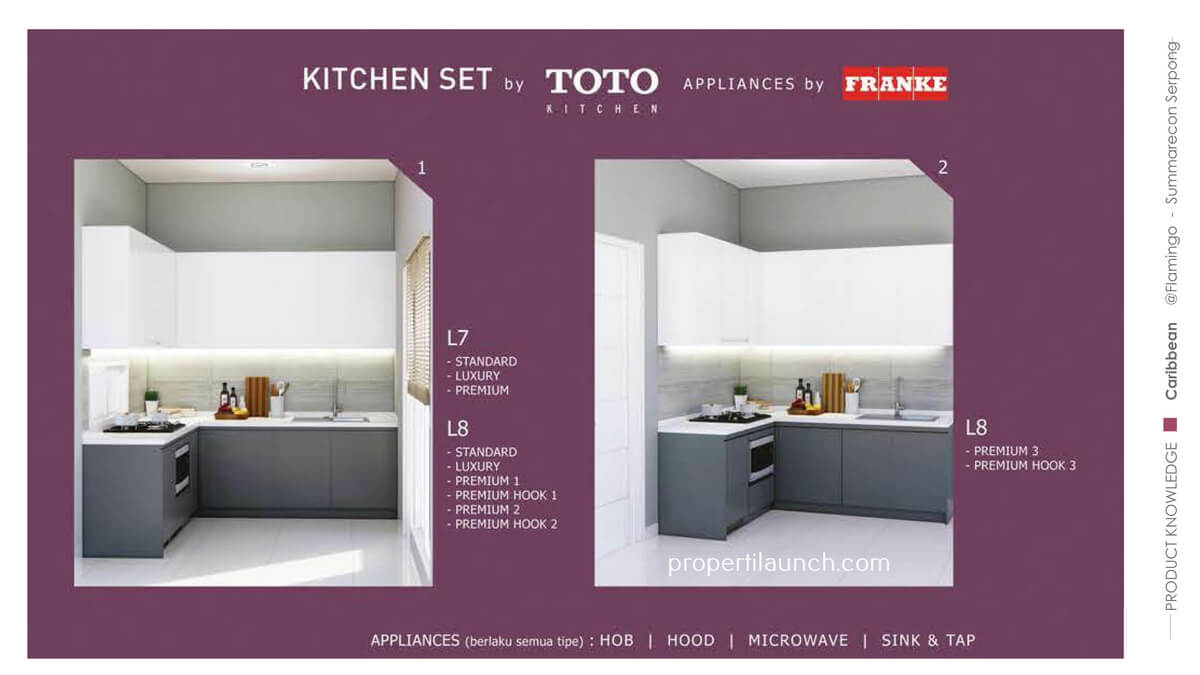 Kitchen Set Toto Rumah Caribbean