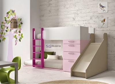 cama infantil con tobogan