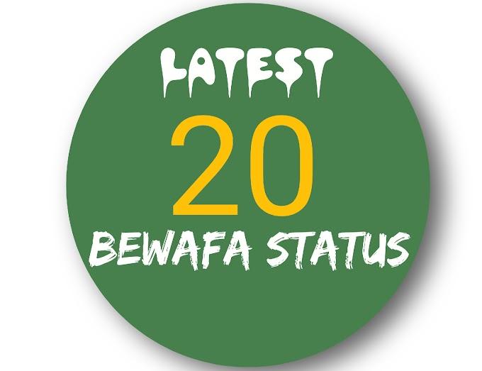 Latest 20 Bewafa status