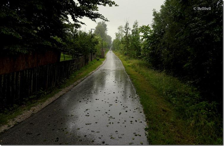 Regenweg am Kai