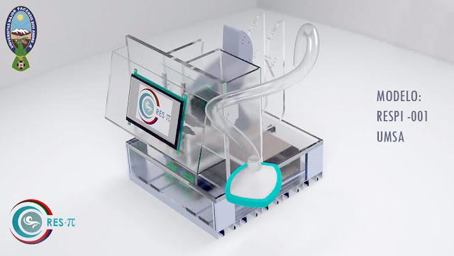 RESPI-001 Prototipo inicial del ventilador mecánico patentado por la UMSA