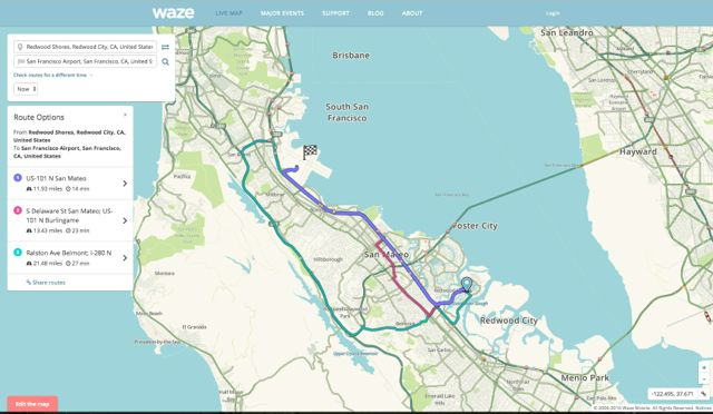 Waze Map of San Francisco