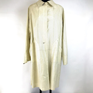 *SALE* Calvin Klein Collection Perforated Leather Trench Coat