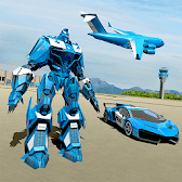 Police Robot Car Game – Police Plane Transport APK Icon