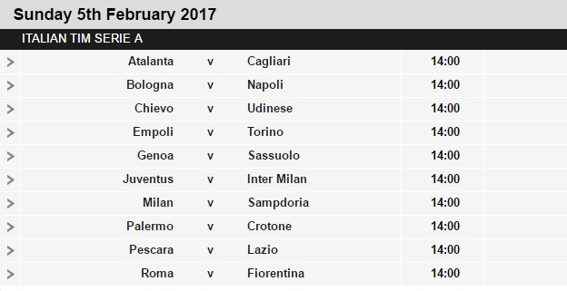 Serie%2BA%2Bschedule%2B23 Planning a Football Trip to Italy - SERIE A FIXTURES 2016/17