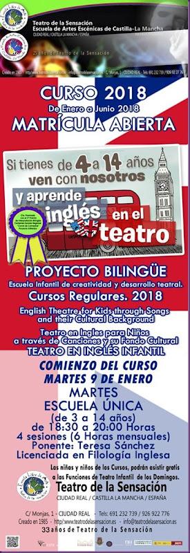 TALLER DE INGLÉS DE TEATRO 2018