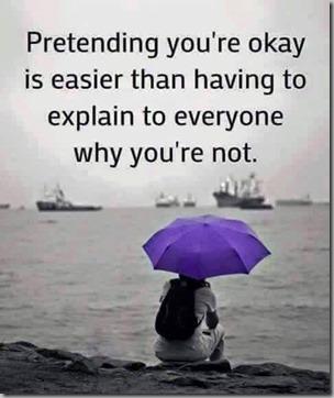 pretending youre ok
