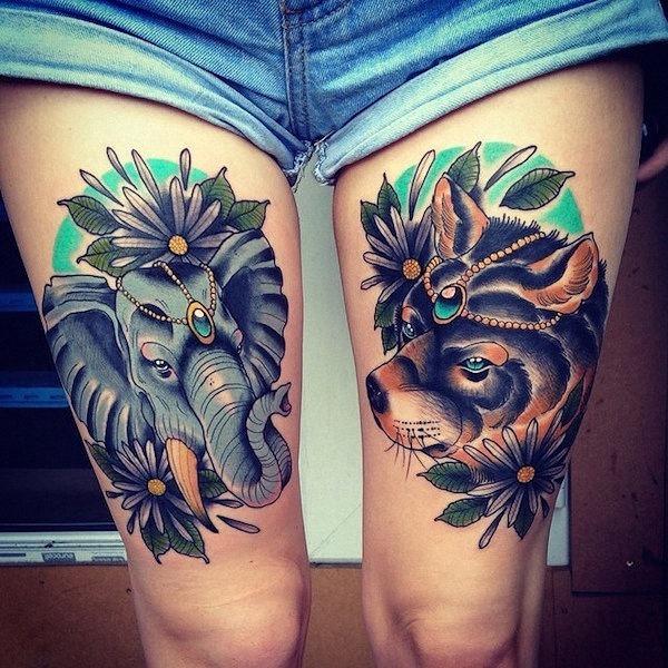 o_elefante_e_o_urso_de_tatuagem