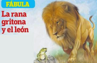 La rana gritona y el león