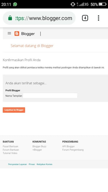 Hasan Askari: Tutorial Blogger Lengkap Menggunakan HP - #4 Mendaftar dan Membuat Blog - gambar 4