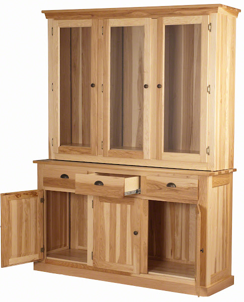 handcrafted hickory china cabinets from erik organic
