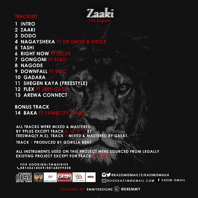 News: (KASYM) Releases Tracklist For #Zaaki Album