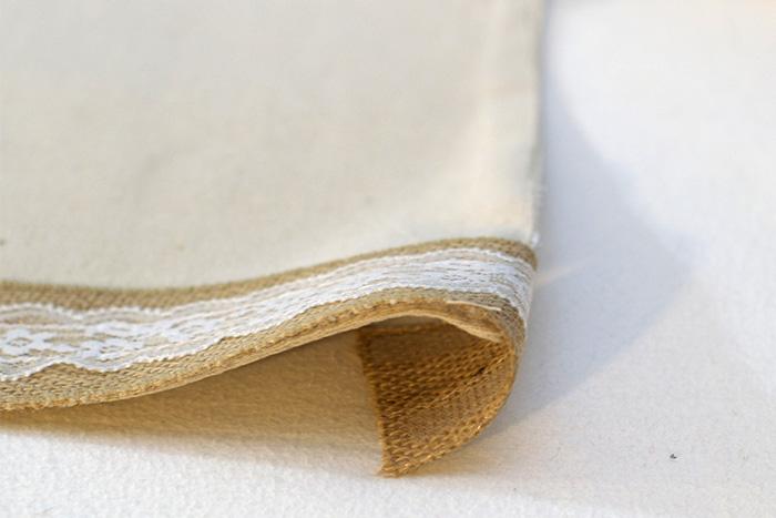 Folding over seam for table runner
