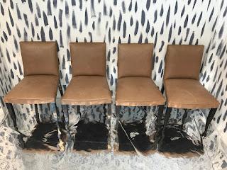Dakota Jackson Leather Dining Chairs Set of 4