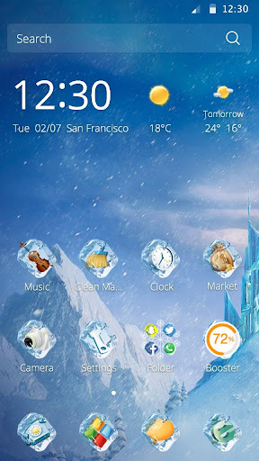 Icy Winter Theme