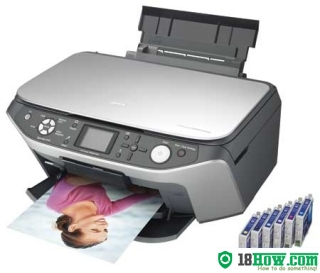How to reset flashing lights for Epson RX650 printer