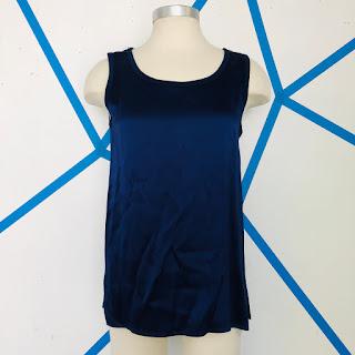 Yves Saint Laurent for Bergdorf Goodman Midnight Blue Silk Blouse
